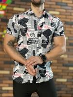 پیراهن هاوایی مدل روزنامه ای