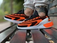 کتونی آدیداس جدید راه راه مشکی نارنجی