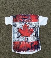 تیشرت آستین کوتاه سوزنی کانادا سفید قرمز