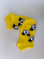 جوراب نیم ساق میکی موس زرد