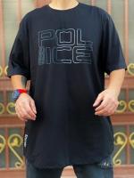 تیشرت آستین کوتاه سایز بزرگ Police مشکی