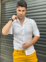 پیراهن اسپرت آستین بلند Polo سفید