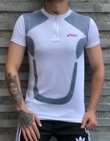 تیشرت ورزشی آستین کوتاه Asics زیپدار سفید
