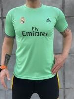 تیشرت ورزشی رئال مادرید رنگ سبزآبی