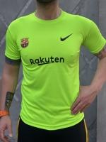 تیشرت ورزشی بارسلونا رنگ سبز بلک لایت