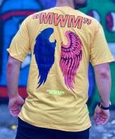 تیشرت آستین کوتاه مدل MWM رنگ زرد