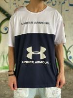 تیشرت آستین کوتاه سایز بزرگ طرح Under Armor مشکی سفید