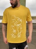 تیشرت آستین کوتاه میکی موس زرد