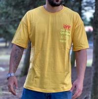 تیشرت آستین کوتاه مدل OFF-WHITE رنگ زرد