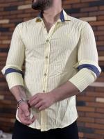 پیراهن اسپرت راه راه CK لیمویی