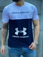تیشرت سایز بزرگ under armour سفید سرمه ای