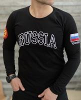 تیشرت آستین بلند RUSSIA مشکی