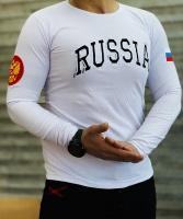تیشرت آستین بلند RUSSIA سفید