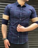 پیراهن آستین بلند اسپرت چهارخونه GF رنگبندی