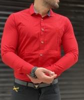 پیراهن اسپرت راه راه CK قرمز