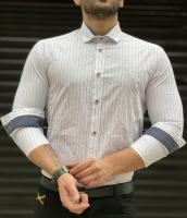 پیراهن اسپرت راه راه CK سفید