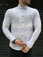 پیراهن آستین بلند اسپرت طرح دار رنگبندی