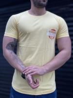 تیشرت آستین کوتاه MSICROW زرد