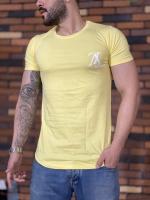 تیشرت آستین کوتاه LV زرد