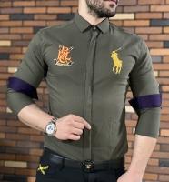 پیراهن اسپرت POLO RALPH زیتونی