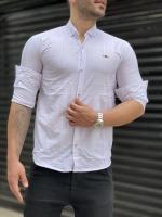 پیراهن اسپرت طرح دار مازراتی سفید