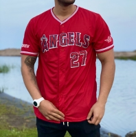 تیشرت آستین کوتاه راگبی ANGELS قرمز