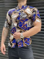 پیراهن هاوایی Classic آبی سفید
