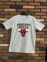 تیشرت آستین کوتاه قواره دار CHICAGO طوسی روشن