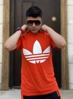 تیشرت آستین کوتاه قواره دار Adidas نارنجی