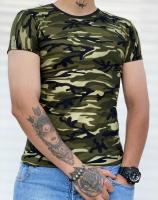 تیشرت آستین کوتاه چریک مشکی سبز