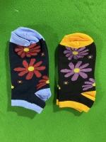 جوراب های نیم ساق گل دار رنگبندی