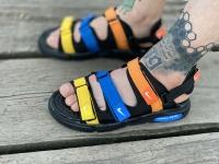 صندل Nike مشکی آبی کف مشکی