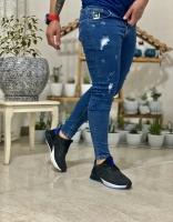 شلوار جین زاپ Gucci آبی تیره
