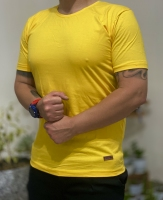 تیشرت آستین کوتاه ساده Abercrombie زرد