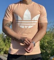 تیشرت آستین کوتاه قواره دار Adidas گلبهی