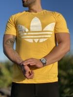 تیشرت آستین کوتاه قواره دار Adidas زرد