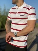 تیشرت آستین کوتاه یقه دار Superdry سفید زرشکی