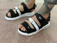 صندل Nike مشکی سفید کف سفید