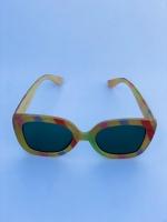 عینک دخترانه گوچی طلایی هفت رنگ