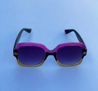 عینک دخترانه گوچی بنفش مشکی طلایی