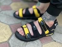 صندل Nike مشکی زرد کف مشکی