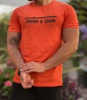 تیشرت آستین کوتاه سامورایی نارنجی