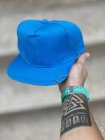 کلاه کپ رینگ دار آبی