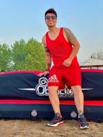 تاپ Athletics قرمز مشکی